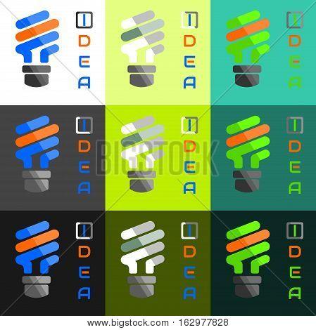 Mix Color light bulb in Idea concept vector illustration