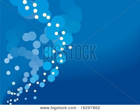 Water bubbles background. Vector illustration.