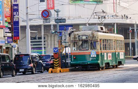 Traffic At Downtown In Hiroshima, Japan