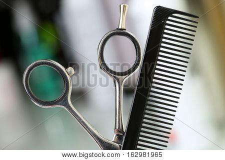 Barber Instrument Set In Front Of Camera