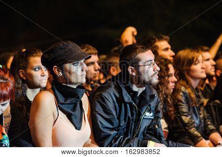 BELGRADE, SERBIA - SEPTEMBER 19TH: SKINHEADS ENJOYING AT WARRIOR'S DANCE FESTIVAL ON SEPTEMBER 19TH, 2012 IN BELGRADE, SERBIA