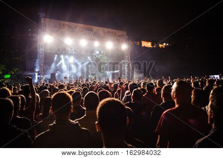 BELGRADE, SERBIA - SEPTEMBER 19TH: SERBIAN BAND RITAM NEREDA PERFORMING AT WARRIOR'S DANCE FESTIVAL ON SEPTEMBER 19TH, 2012 IN BELGRADE, SERBIA