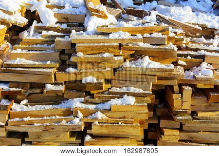 Textures on a light background wood and stone winter