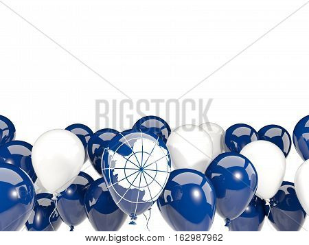 Flag Of Antarctica With Balloons