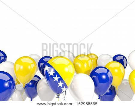 Flag Of Bosnia And Herzegovina With Balloons