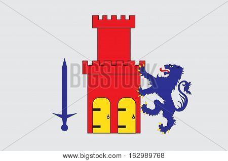 Flag of Bohuslan is a province in Gotaland of Sweden. Vector illustration