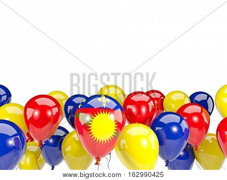 Flag Of Guadeloupe With Balloons