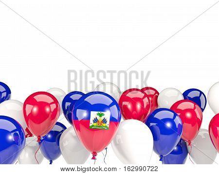 Flag Of Haiti With Balloons
