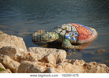 Ornamental turtle maquette at the EXPO 2016 Antalya