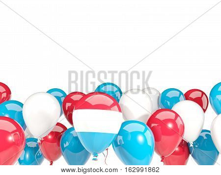 Flag Of Luxembourg With Balloons