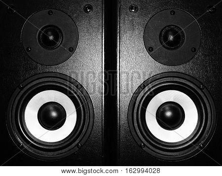 Black music speaker bass melody black white song sound column