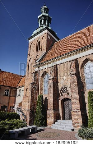 Gothic Medieval monastery church in Gniezno in Poland