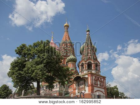 St Basil Cathedral, a unique church in Moscow, Russia