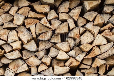 Firewood background ( firewood pattern or texture )