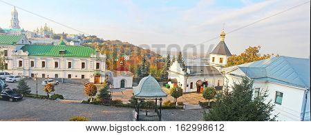 Kiev-Pechersk Lavra in the autumn. Kyiv, Ukraine