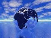 Globe in ocean see more in my portfolio poster