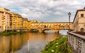 View of the Ponte Vecchio (Old Bridge) in Florence Italy poster