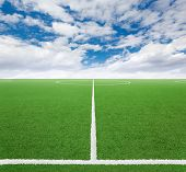 Football ground poster