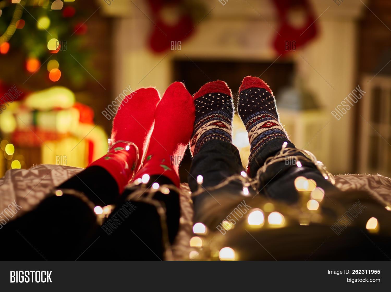 Christmas Couple Home Image Photo Free Trial Bigstock