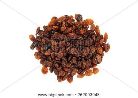 Raisins Isolated On White Background. Currants Isolated.