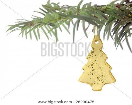 Christmas tree branch with Christmas ball 1102_26