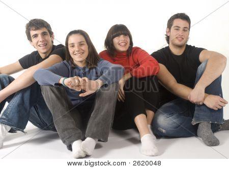 Portrait Of Four Adolescents