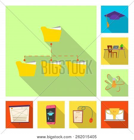 Vector Illustration Of Education And Learning Logo. Collection Of Education And School Stock Vector