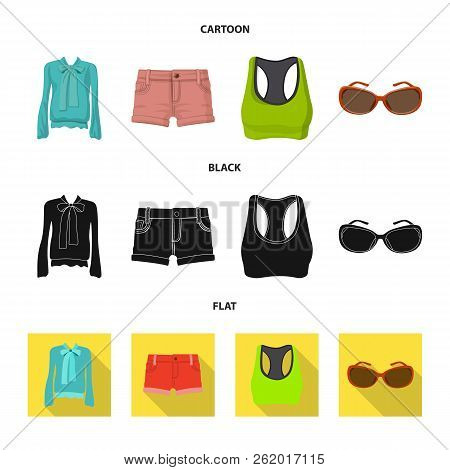 Isolated Object Of Woman And Clothing Icon. Collection Of Woman And Wear Vector Icon For Stock.