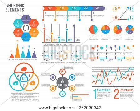 Infographics Elements. Statistics Chart, Option Flowchart And Timeline. Diagram, Budget Graph. Busin
