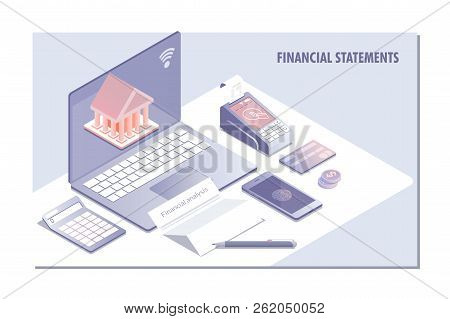 Web Page Design Templates For Financial Statement, Analysis And Statistic Online Servise