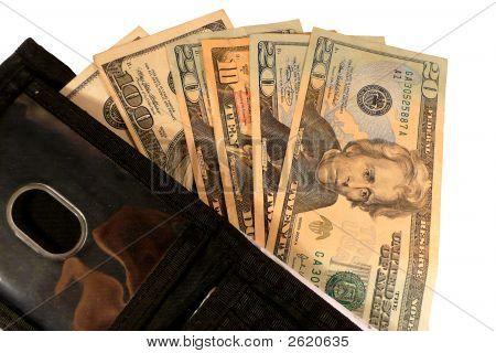 Geld In eine Brieftasche