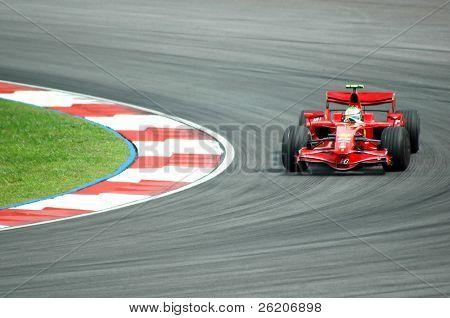 Kimi Raikkonen, the Champion of 2008 F1 Grand Prix Malaysia