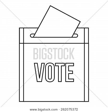 Vote Box Icon. Outline Illustration Of Vote Box Icon For Web