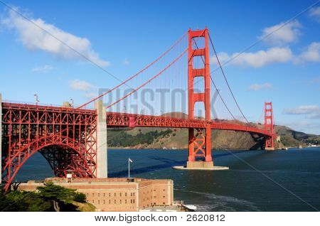 Golden Gate Bridge And Fort Point In The Morning