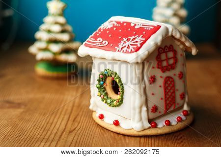 Gingerbread House. Christmas Holiday Sweets. European Christmas Holiday Traditions. Christmas Ginger