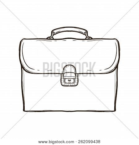 Leather School Bag. School Backpack. Coloring Book