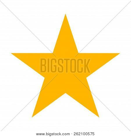 Star Icon Vector. Classic Rank Isolated. Trendy Flat Favorite Design. Star Web Site Pictogram, Mobil
