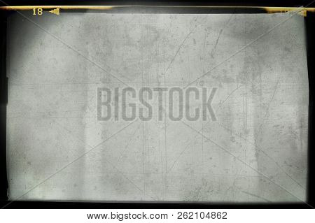 Blank Grained And Scratched Film Strip Texture Background