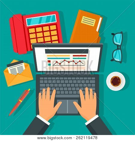 Accounting Day Concept Background. Flat Illustration Of Accounting Day Vector Concept Background For