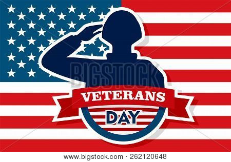 Usa Veterans Day Concept Background. Flat Illustration Of Usa Veterans Day Vector Concept Background