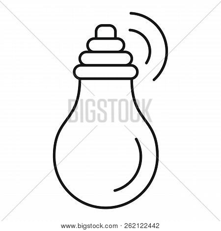 Intelligent Bulb Icon. Outline Illustration Of Intelligent Bulb Vector Icon For Web Design Isolated