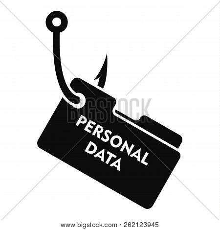 Phishing Personal Data Icon. Simple Illustration Of Phishing Personal Data Vector Icon For Web Desig