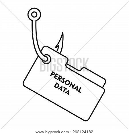 Phishing Personal Data Icon. Outline Illustration Of Phishing Personal Data Vector Icon For Web Desi