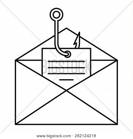 Phishing Personal Mail Icon. Outline Illustration Of Phishing Personal Mail Vector Icon For Web Desi