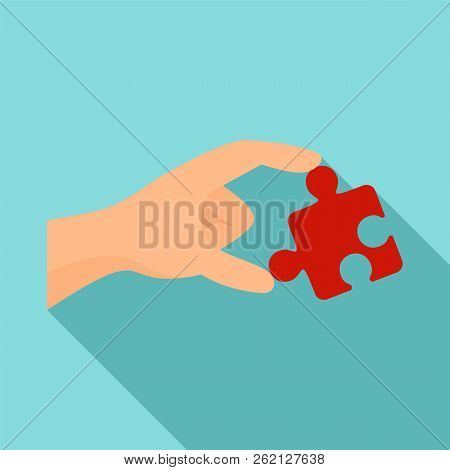 Puzzle Solution Icon. Flat Illustration Of Puzzle Solution Vector Icon For Web Design