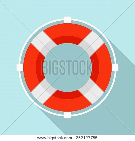 Life Buoy Solution Icon. Flat Illustration Of Life Buoy Solution Vector Icon For Web Design