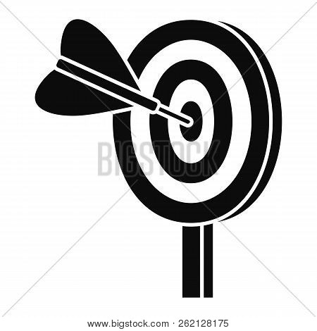 Target Solution Icon. Simple Illustration Of Target Solution Vector Icon For Web Design Isolated On