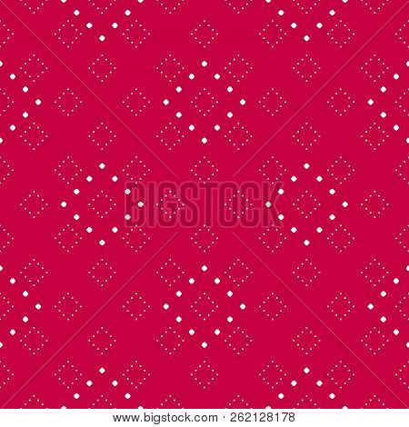Subtle Red And White Minimalist Dotted Seamless Pattern, Modern Vector Texture In Asian Style. Abstr