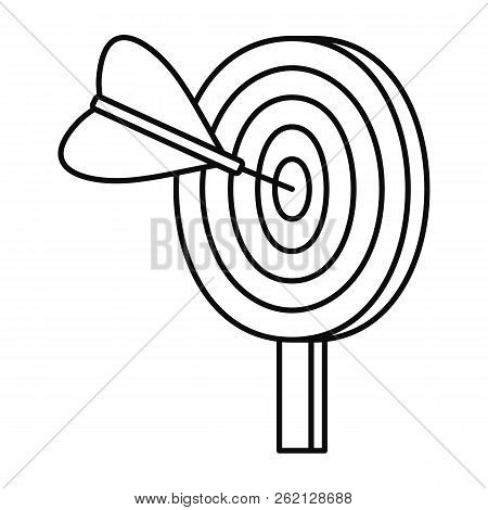 Target Solution Icon. Outline Illustration Of Target Solution Vector Icon For Web Design Isolated On