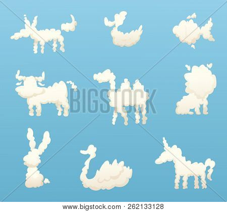 Shapes Animal Clouds Vector & Photo (Free Trial) | Bigstock